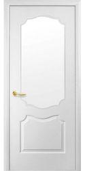 Межкомнатные двери Вензель со стеклом сатин, Под покраску Структурный