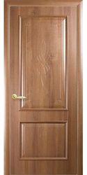 Межкомнатные двери Вилла глухое с гравировкой, ПВХ DeLuxe Золотая ольха