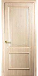 Межкомнатные двери Вилла глухое с гравировкой, ПВХ DeLuxe Ясень
