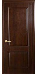 Межкомнатные двери Вилла глухое, ПВХ DeLuxe Каштан
