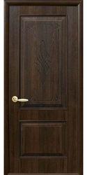 Межкомнатные двери Вилла глухое с гравировкой, ПВХ DeLuxe Орех premium