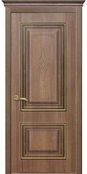 Межкомнатные двери Вилла Премиум глухое с гравировкой, ПВХ DeLuxe Золотая ольха