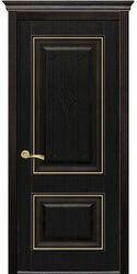 Межкомнатные двери Вилла Премиум глухое с гравировкой, ПВХ DeLuxe Венге new