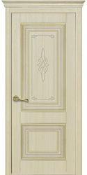 Межкомнатные двери Вилла Премиум глухое с гравировкой, ПВХ DeLuxe Ясень