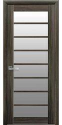 Межкомнатные двери Виола со стеклом сатин, Экошпон  Кедр