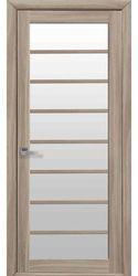 Межкомнатные двери Виола со стеклом сатин, Экошпон  Сандал
