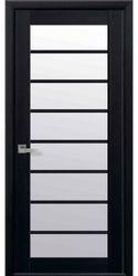 Межкомнатные двери Виола со стеклом сатин, Экошпон  Венге DeWild