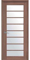 Межкомнатные двери Виола со стеклом сатин, Экошпон  Ольха 3D